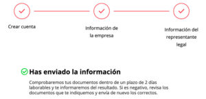 Confirmación envío de información